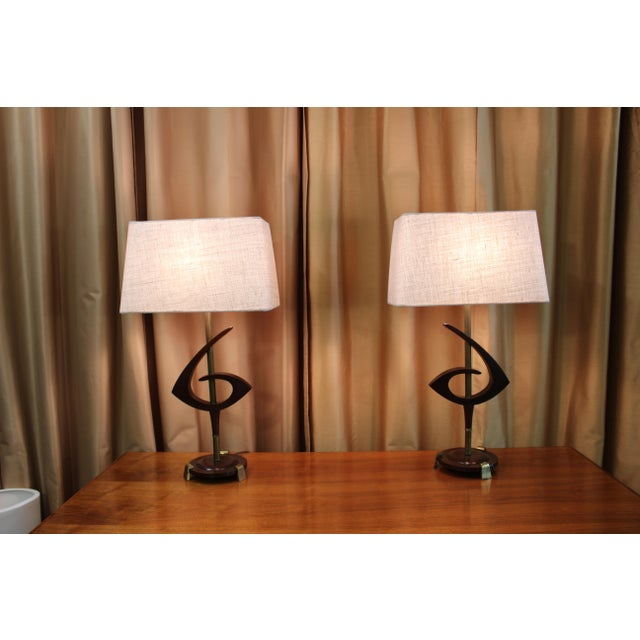 Mid Century Rembrandt Lamp: Rembrandt Mid-Century Modern Lamps - A Pair