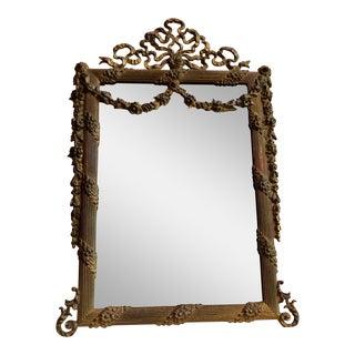 Vintage Brass Swag Vanity Mirror