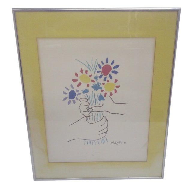 Petite fleurs print by pablo picasso chairish for Picasso petite fleurs
