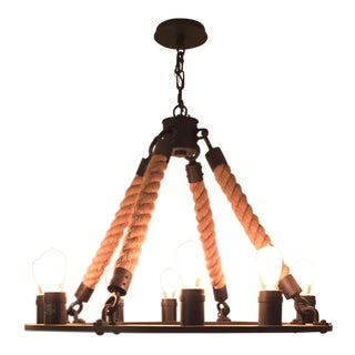 Round Industrial Inspired Chandelier
