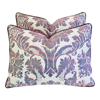 Italian Fortuny Vivaldi Pillows - a Pair