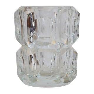 Czech Bohemian Lead Crystal Vase