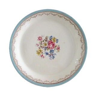 Powder-Blue & Gold Floral Spray Platter