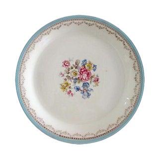 Powder-Blue & Gold Floral Spray Platter