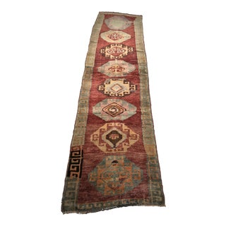 "Bellwether Rugs Vintage Turkish Oushak Runner - 2'10""x11'6"""