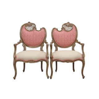 Louis XV Rococo Style Chairs - a Pair