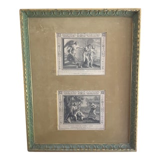 Framed Raphael`s Adam and Eve Print
