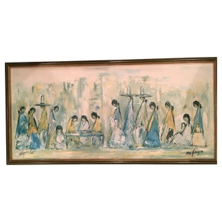 "DeGrazio's ""Navajo Fair"" Painting"