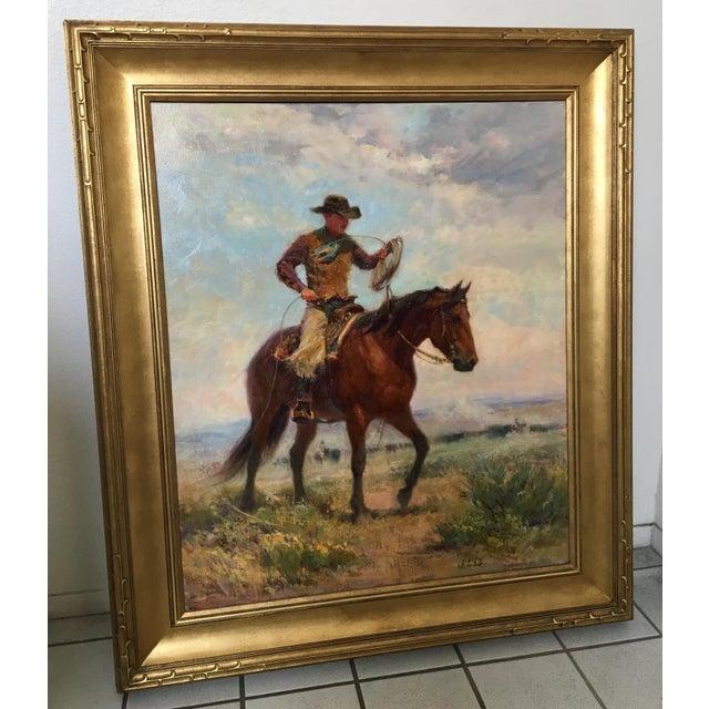 """Montana Artist Joyce Lee """"Practice Loop"""" Original Painting - Image 4 of 9"""