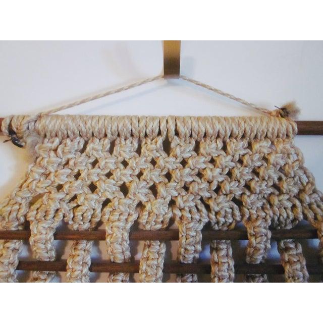 Vintage Jute Rope Macrame Boho Wall Hanging - Image 4 of 10