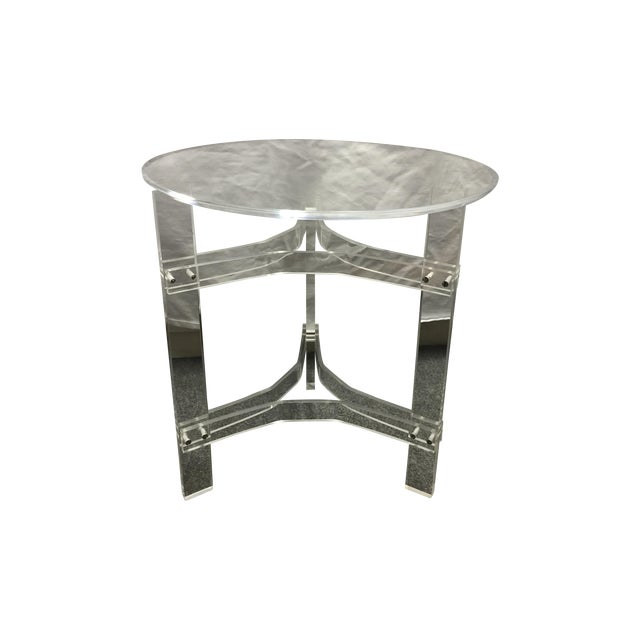 Mid-Century Modern Lucite Side Table - Image 1 of 9