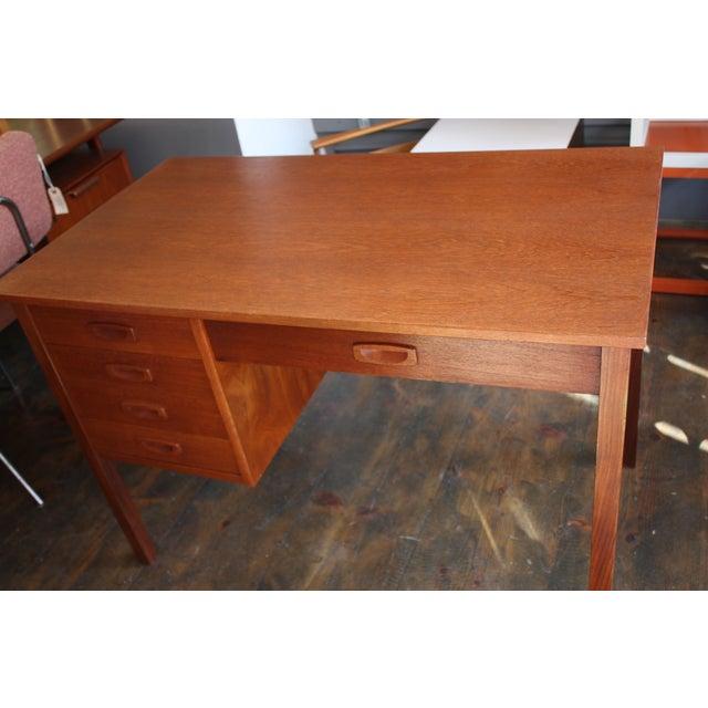 Danish Modern Teak Student Desk - Image 10 of 10