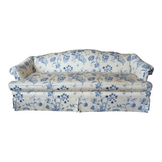 Blue & White Camel Back Classic Sofa