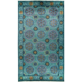 """Suzani Hand Knotted Area Rug - 8' 1"""" X 14' 3"""""""