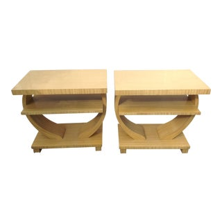 French Art Deco End Tables -- a Pair