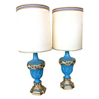 Vintage Hollywood Regency Table Lamps - Pair