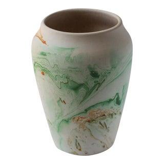 Vintage Green Nemadji Pottery Vase
