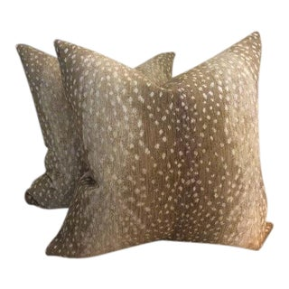 Antelope Chenille Pillows - a Pair