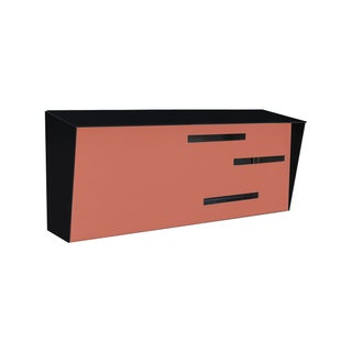 Modern Mailbox - Two Tone Black & Coral