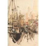 "Image of Luigi Kasimir ""Fulton Market New York"" Lithograph"