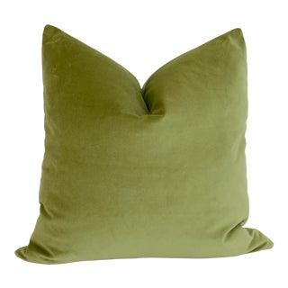 Apple Green Velvet Pillow