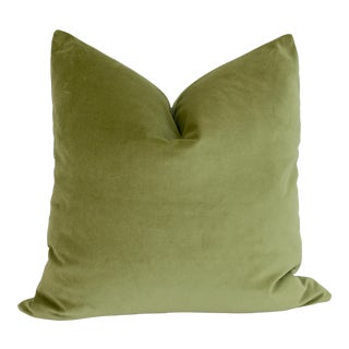 Apple Green Velvet Pillow