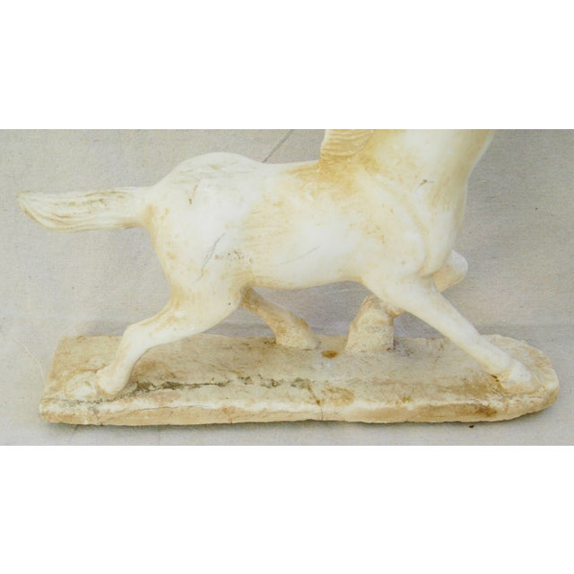 1940's Carved Marble Horse Statue - Image 9 of 11