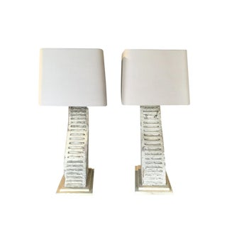 Rustic Industrial Architectural Fragment Lamps - A Pair