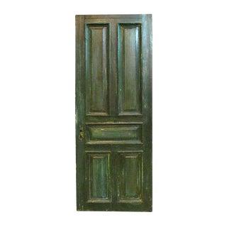 Antique Five Raised Panel Green Oak Door