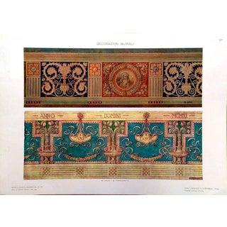 1910 Modelli d'Arte Decorativa Mural Lithograph