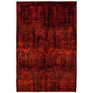 """Moroccan Hand Knotted Area Rug - 6'0"""" X 9'0"""""""