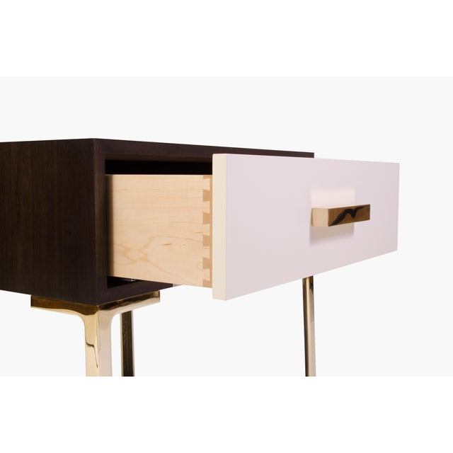 Astor Nightstands in Contrasting Ebony & Ivory by Montage - Pair - Image 11 of 11