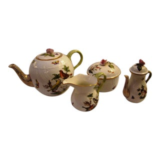 Herend Rothschild Bird Tea Set