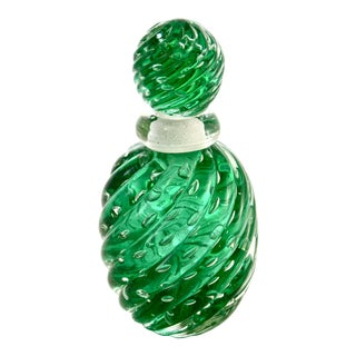 Emerald Green Murano Bullicante Bottle