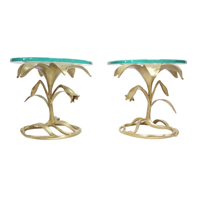 Pair of Arthur Court 'Lily' Side Tables - Image 1 of 11