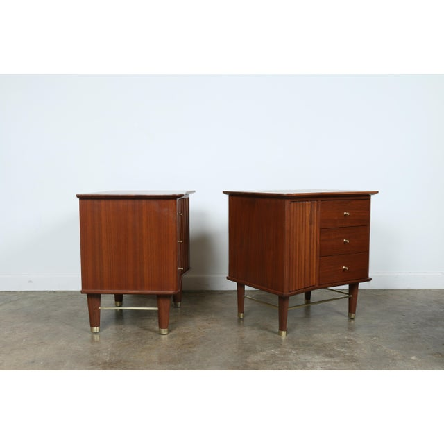 Refinished Walnut Side Tables Nightstands - A Pair - Image 10 of 11