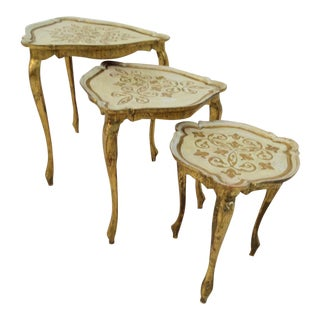 Italian Florentine Nesting Tables - Set of 3