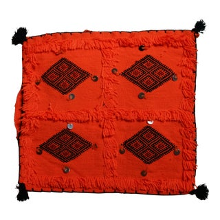 Moroccan Handmade Neon Orange Pillow