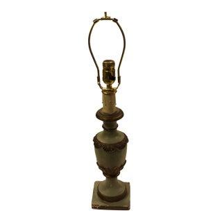 Vintage Italian Plaster Urn Table Lamp