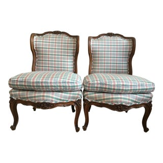 French Upolstered Chairs - A Pair
