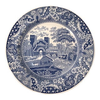 English Spode Transferware Plate