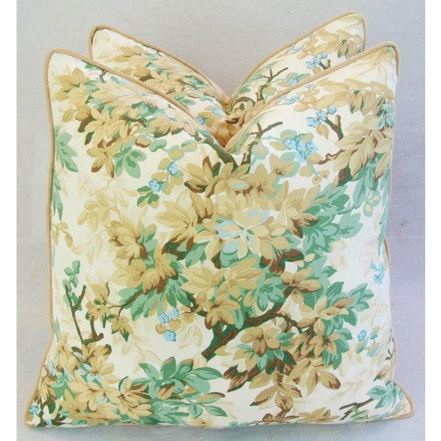 Designer Brunschwig & Fils Foliage Pillows - Pair - Image 3 of 11