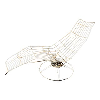 Homecrest Mid-Century Wire Chaise Lounge