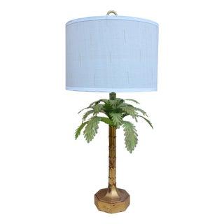 Hollywood Regency Italian Palm Tree Tole Lamp