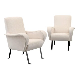 Pair of Lounge Chairs, Manner of Luigi Caccia Dominioni