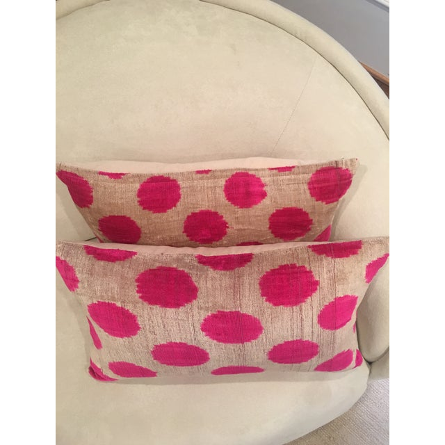 Pink Dots Handmade Pillows - A Pair - Image 4 of 9