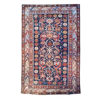 19th Century Kazak Carpet - 4' x 6'10""