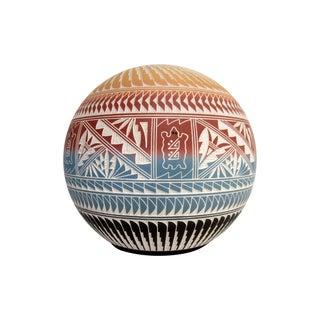 Signed Native American Acoma Pot