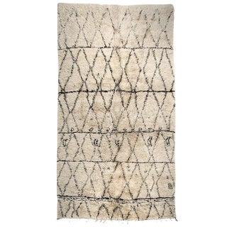 Large Beni Ouarain Moroccan Berber Carpet