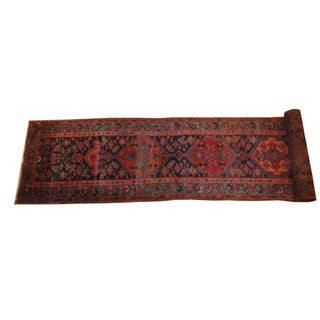 Antique Persian Bijar Runner Rug - 17' x 3'